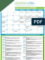 Sustain Utah September Calendar