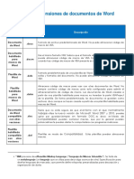 Tipos de Extensiones de Documentos de Word