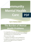 Community Mental Health Care by Dr. Wazhma Hakimi