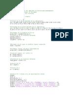 Ejemplo Por Matlab y Datos Obtenidos