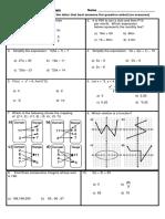 Algebra Exam 2017- Grade 5 CsCs