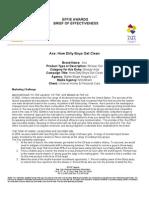 AXE Shower Gel Case Study