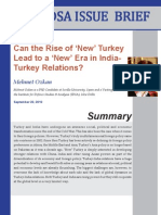 Turkey-India Relations in the 21st Century
