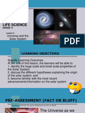 ELS- Lesson 2 Universe & the Solar System ppt | Solar System