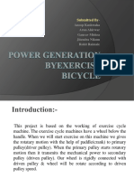 Power Generation From Exercise Bicycle