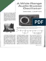 Audio Sweep Oscillator