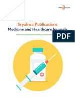 Medicine and Healthcare Journals Sryahwapublications