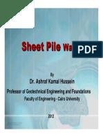 Sheet Pile Wall PPt