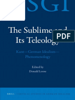 Critical Studies in German Idealism Donald Loose-The Sublime and Its Teleology
