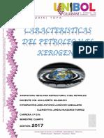 Informe de Caract. Del Petroleo y Kerogeno