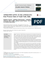 Antimicrobial Activity of Some Actinomycetes From Western Ghats of Tamil Nadu, India