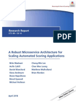 A Robust Microservice Architecture for Scaling Automated Scoring Applications