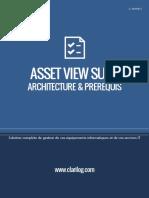 CLARILOG Asset View Suite Architecture Et Prerequis