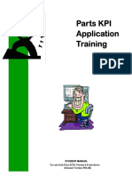 CAT Parts Kpi Application Training