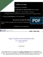 Laplace Transforms Heaviside 162