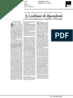 Mancano 2,5 milioni di dipendenti pubblici - Italia Oggi del 9 maggio 2018