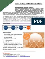 10 Year Periodic Testing of LPG Spherical Tank
