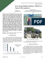 Accident Prevention Using Hidden Markov Model as Speech Recognition