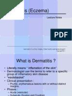 Lecture Notes_Dermatitis (Eczema)