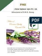 PME Essential Oil Brochure