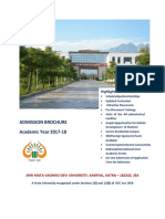 SMVDU Engraining  College B.Tech Admission Start till 12 may 2018