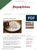 Cómo Hacer Pasta Quebrada - Pepekitchen