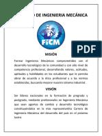 FICM - Misión y Visión (Mecánica)