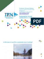 Collaboration vs Competition - IBM Start - Prof. Richard Wilding Sept 2010 Start Template Ppt v1
