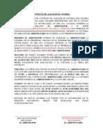 Contrato de Alquiler -Cochera