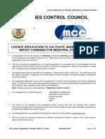 Medical Marijuana Licence Guidelines 2017