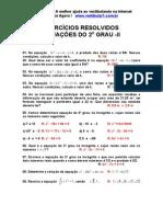 Exercicios Resolvidos Equacao 2 Grau II