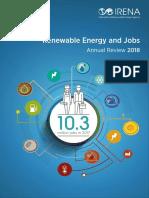 Les emplois dans le secteur des énergies renouvelables