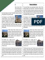 Roman Architecture Text