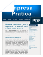 Network Marketing_ Cos'è Realmente e Perché Devi Evitarlo Come La Peste – Impresa Pratica