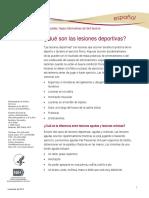 Sports Injuries Ff Espanol
