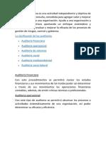 La Auditoría Interna Es Una Actividad Independiente y Objetiva de Aseguramiento y Consulta