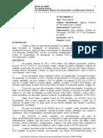 Relatório da unidade técnica do TCU
