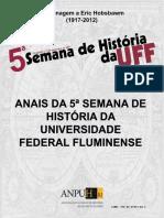 2018 Anais Da 5ª. Semana de História Da Universidade Federal Fluminense