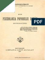 Dumitru Draghicescu Din Psihologia Poporului Roman 1907