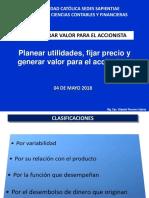 UCSS Planear Utilidades, Fijar Precio Y GENERARAR VALOR Para ACCIONISTA