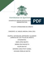 Equipo 2. Naturaleza, Definicin y Alcances Juridicos de Los Titulos de Credito Omar. Giovanni. Felipe. Gerardo. Herbin