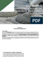 Calidad Del Concreto, Mezclado y Colocación
