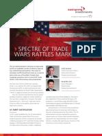 Spectre of Trade-wars Rattles Markets