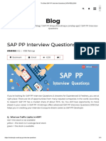 The Best SAP PP Interview Questions [UPDATED] 2018