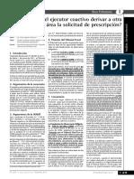 Puede El Ejecutor Coactivo Derivar a Otra AREA LA SOLICITUD de PRESCRIPCION