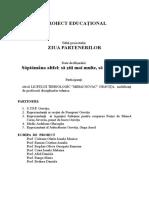 Proiect Educaţional Ziua Partenerilor (1)