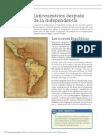Latinoamerica Despues de La Independencia