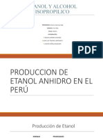 Produccion de Etanol Anhidro en El Perú