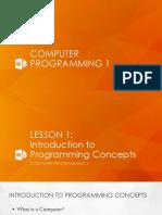 Computer Programming 1