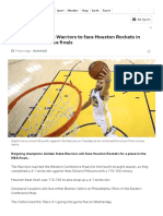 NBA_ Golden State Warriors to Face Houston Rockets in Western Conference Finals - BBC Sport